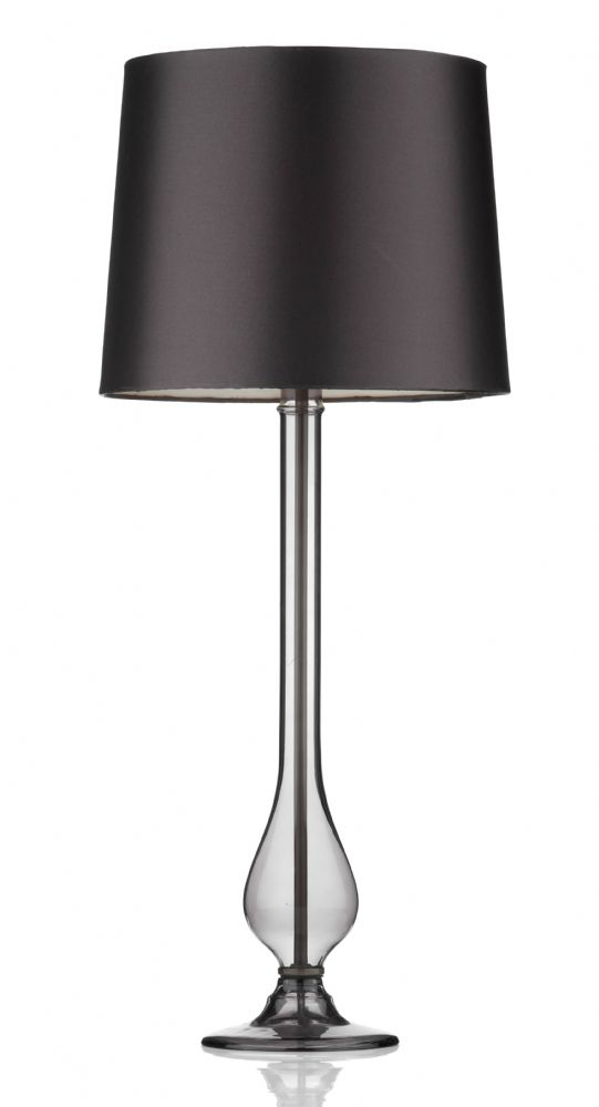 Dillon Smoked Table Lamp complete with shade DIL4010 (780146) (Class 2 Double Insulated)